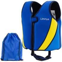 Limmys Premium Neoprene Swim Vest for Children - Buoyancy Swimming Aid for Boys and Girls, Drawstring Bag Included