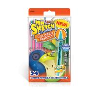 Mr. Sketch 1970620 Scented Twistable Colored Pencils, Assorted Colors, 24 Count