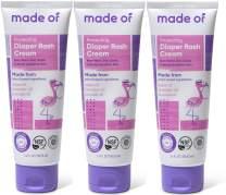 Organic Diaper Rash Cream by MADE OF - NSF Organic - Fragrance Free - Organic Diaper Ointment for Sensitive Skin and Eczema Rash and Irritation - Made in USA - 3.4oz (Fragrance Free, 3-Pack)