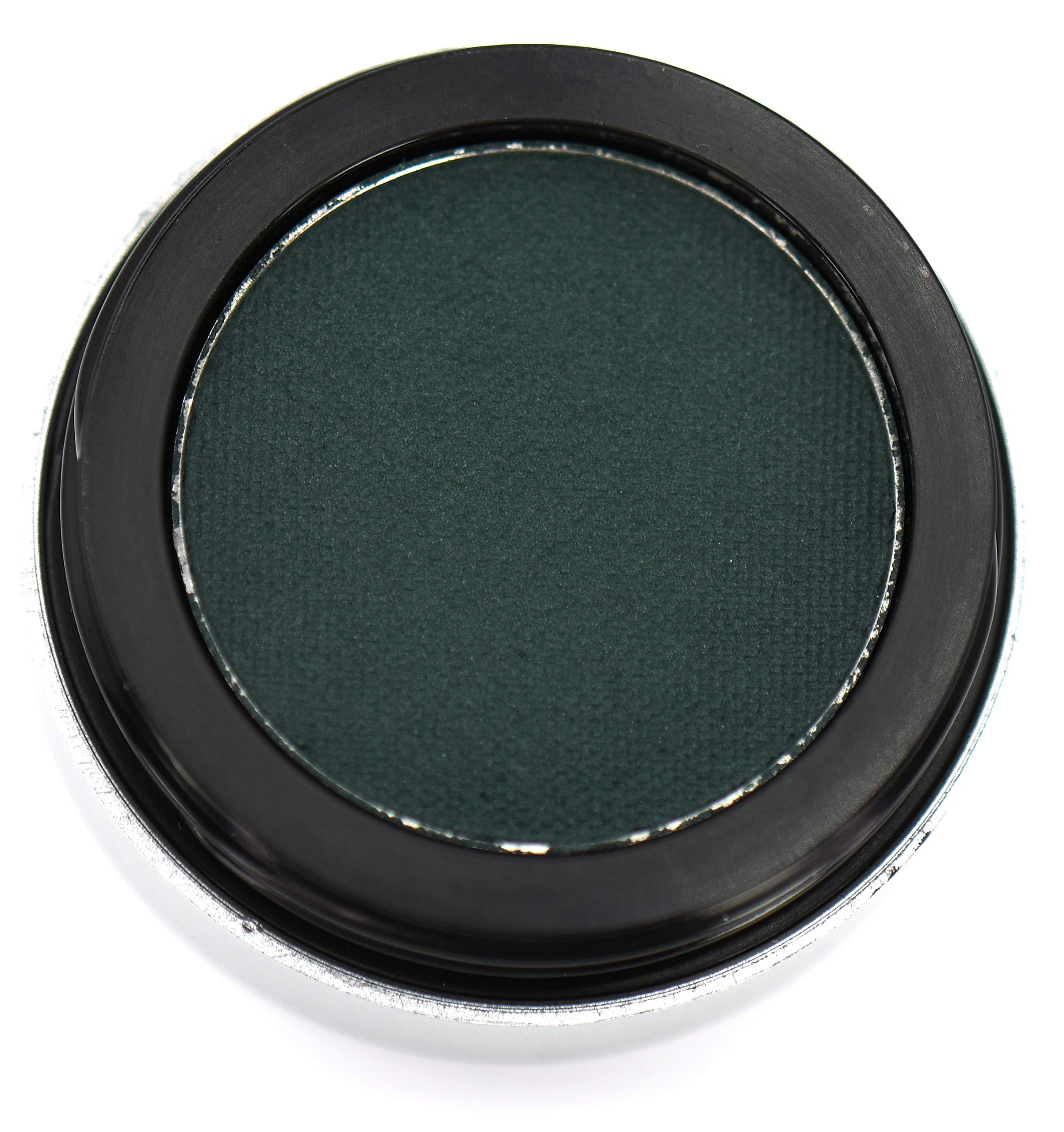 THE ORIGINAL Pure Ziva Matte Forest Emerald Green Wet Dry Pressed Powder Cake Eyeliner Eyeshadow HD Professional, Deep Pigment, No Smudge, Gluten Free, No Animal Testing, Cruelty Free & Vegan