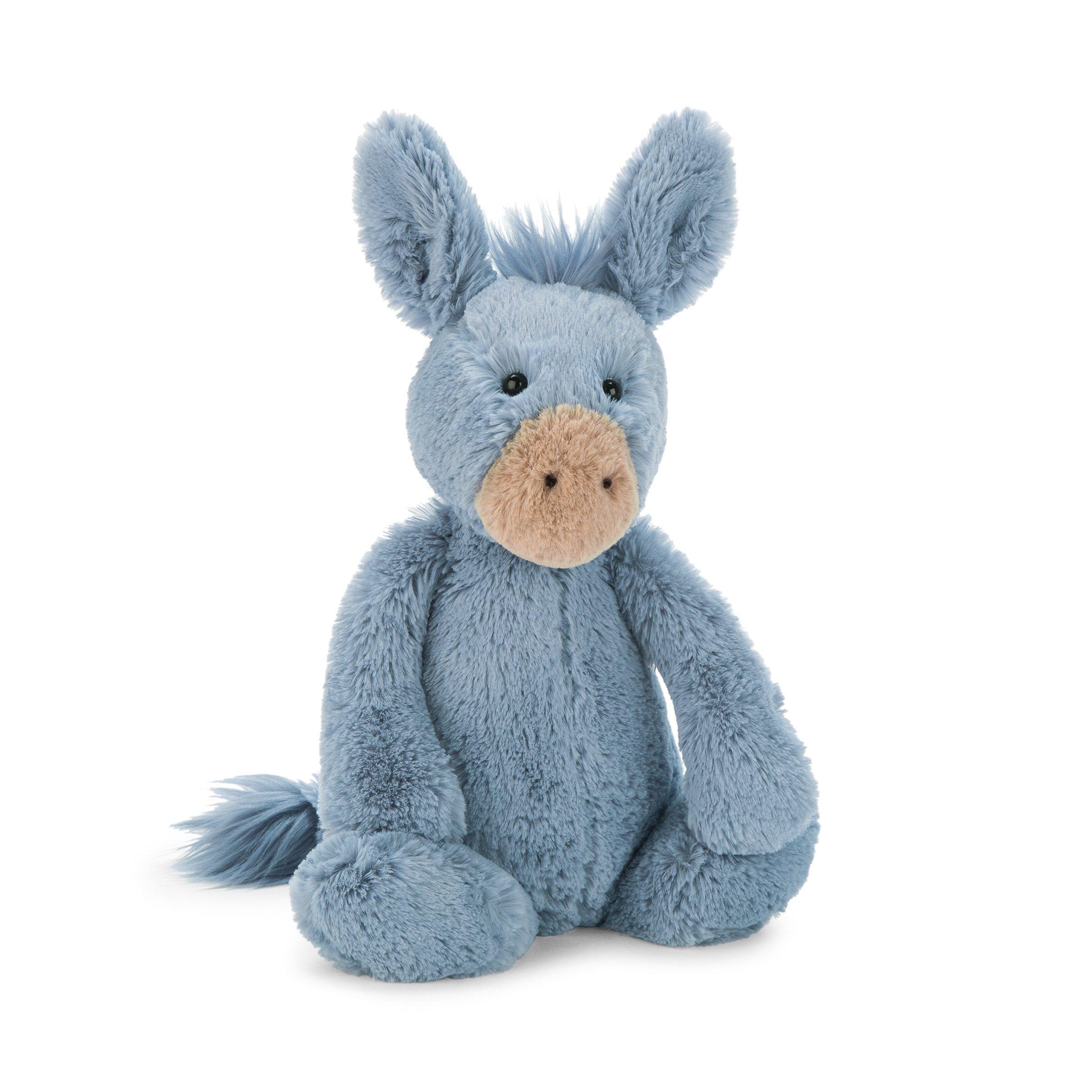 Jellycat Bashful Donkey Stuffed Animal, Medium, 12 inches