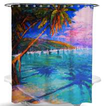 Dimaka Shower Curtain for Girls and Kids,Foliage Jungle Landscape Scenery Print Decoration Design Decor Water Proof Resistant Eco Friendly Bathroom Fabric Shower Curtain (Landscape)
