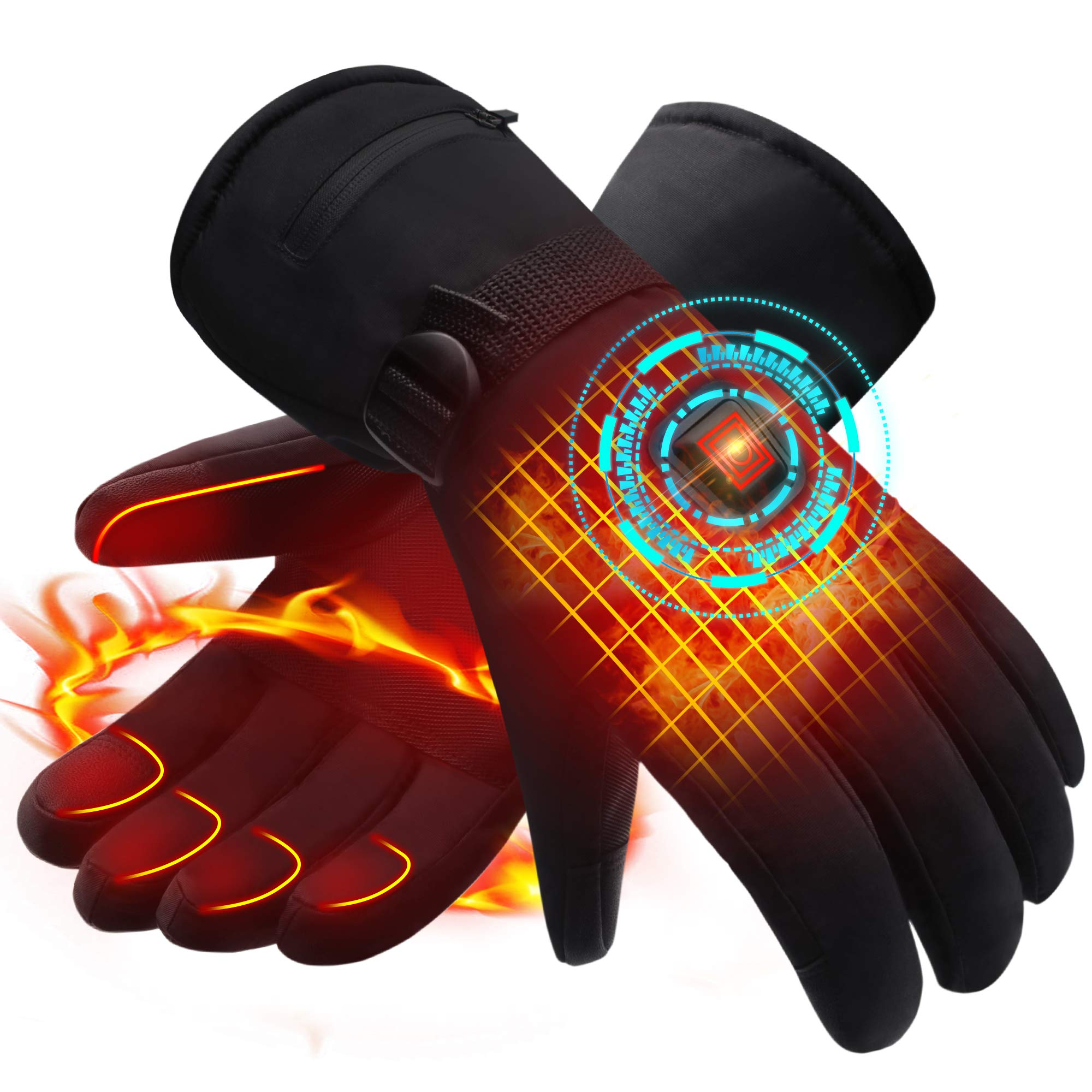 Electric Heated Gloves Rechargeable Battery Heated Gloves for Cold Weather Men's Novelty Gloves