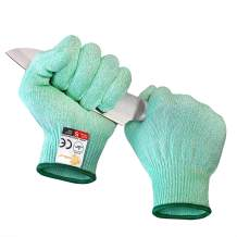 EVRIDWEAR Cut Resistant Gloves, Food Grade Level 5 Safety Protection Kitchen Cuts Gloves For cutting, Chopping, Fish Fillet, Mandolin Slicing and Yard-Work (Medium, Green)