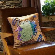 ZDZHWX Moriah-Elizabeth-Me Flip Sequin Pillow Cases Reversible Sequin Square Cushion Cover for Decor Bedroom Sofa Car 16 x 16 Inches