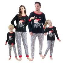 Hupohoi Family Matching Pajama Sets Cute Polar Bear Sleepwear Christmas Clothes Nighty