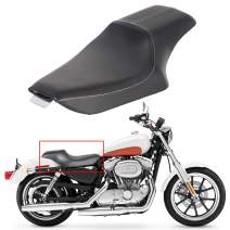 ECOTRIC 2 Up Driver Passenger Seat Compatible with 2004-2019 Harley Iron 883 XL1200 -Synthetic Leather Stitched