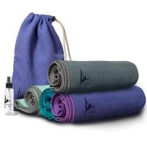 """RaoRanDang Non Slip Yoga mat with Instructions Poses Eco Friendly Rubber for Hot Yoga and Bikram, Free Carry Bag 72""""X26"""""""
