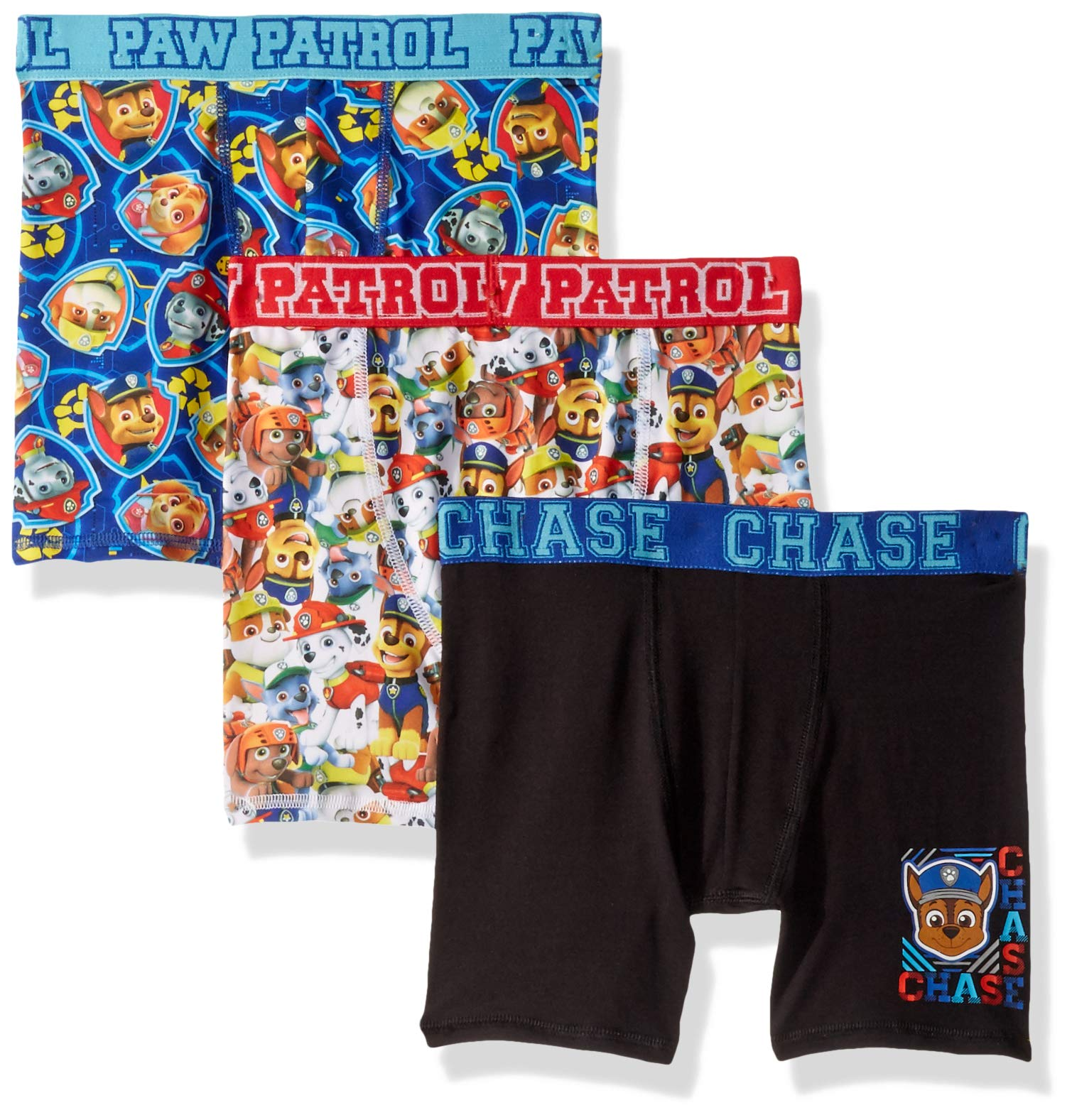 Nickelodeon Paw Patrol 3-Pack Boys Athletic Boxer Briefs Skye Chase Marshall Rubble Rocky Zuma Spandex