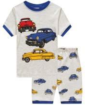 Boys Pajamas 100% Cotton Lion Short Kids Snug Fit Pjs Summer Toddler Sleepwear