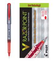 PILOT V Razor Point Liquid Ink Markers, Extra Fine Point, Red Ink, 12 Count (11022)