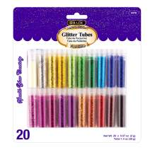 BAZIC 2g Glitter Tubes Shake, Assorted Color, Sparkle Powder for Kids Arts Crafts Slime Paint Scrapbooking Art Nail Body Halloween Party (20/Pack) (Box of 24)