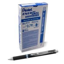 Pentel EnerGel PRO Permanent Gel Pen, (0.7mm) Medium Line, Blue Ink, Box of 12 Pens (BLP77-C)