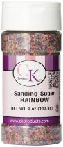CK Products Sanding Sugar Bottle, 4 oz, Rainbow
