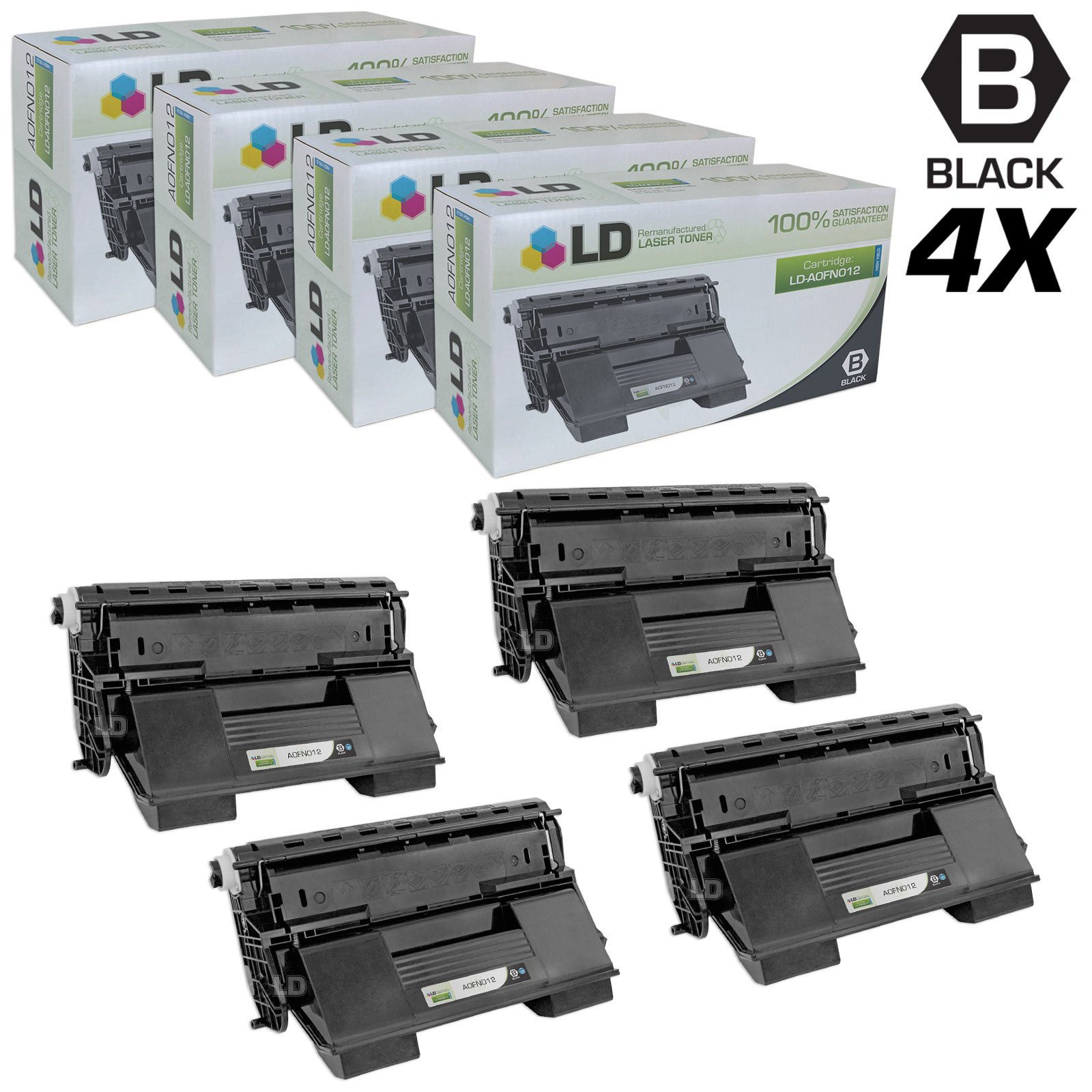 LD Remanufactured Toner Cartridge Replacement for Konica Minolta PagePro 4650EN A0FN012 High Yield (Black, 4-Pack)