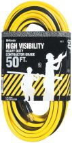 Woods 0521 14/3 SJTW High Visibility Outdoor Extension Cord, 50-Feet, Yellow/Black