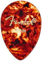 Fender 358 Shape Classic Celluloid Picks (12 Pack) for electric guitar, acoustic guitar, mandolin, and bass
