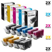 LD Compatible Ink Cartridge Replacements for Canon PGI-225 & CLI-226 (2 Pigment Black, 2 Dye Black, 2 Cyan, 2 Magenta, 2 Yellow, 10-Pack)
