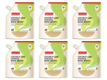 Nona Lim Bone Broth, Thai Coconut Lime Chicken - Gluten Free, Dairy Free, Non GMO (20 oz., 6 Count) - Packaging May Vary