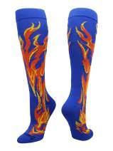 MadSportsStuff Softball Socks with Flames - for Girls or Boys Women or Men