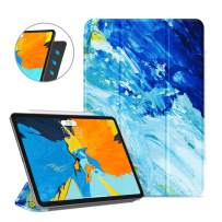 Ayotu Case for iPad Pro 11'' 2018(Old Model)Strong Magnetic Ultra Slim Minimalist Smart Case with Auto Sleep/Wake,Support Cover's Back fold,Trifold Stand Cover for iPad Pro 11'' 2018,The Oil Painting