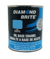 Diamond Brite Paint 31550 1 Quart Oil Base All Purpose Enamel Paint   Ocean Blue