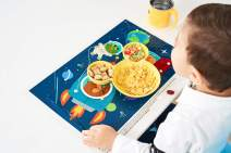 60 Count Disposable Table Topper Stick Placemats for Baby and Toddler Perfect to use as Restaurants Place mast BPA Free Plastic Adhesive Mat Safe for Children