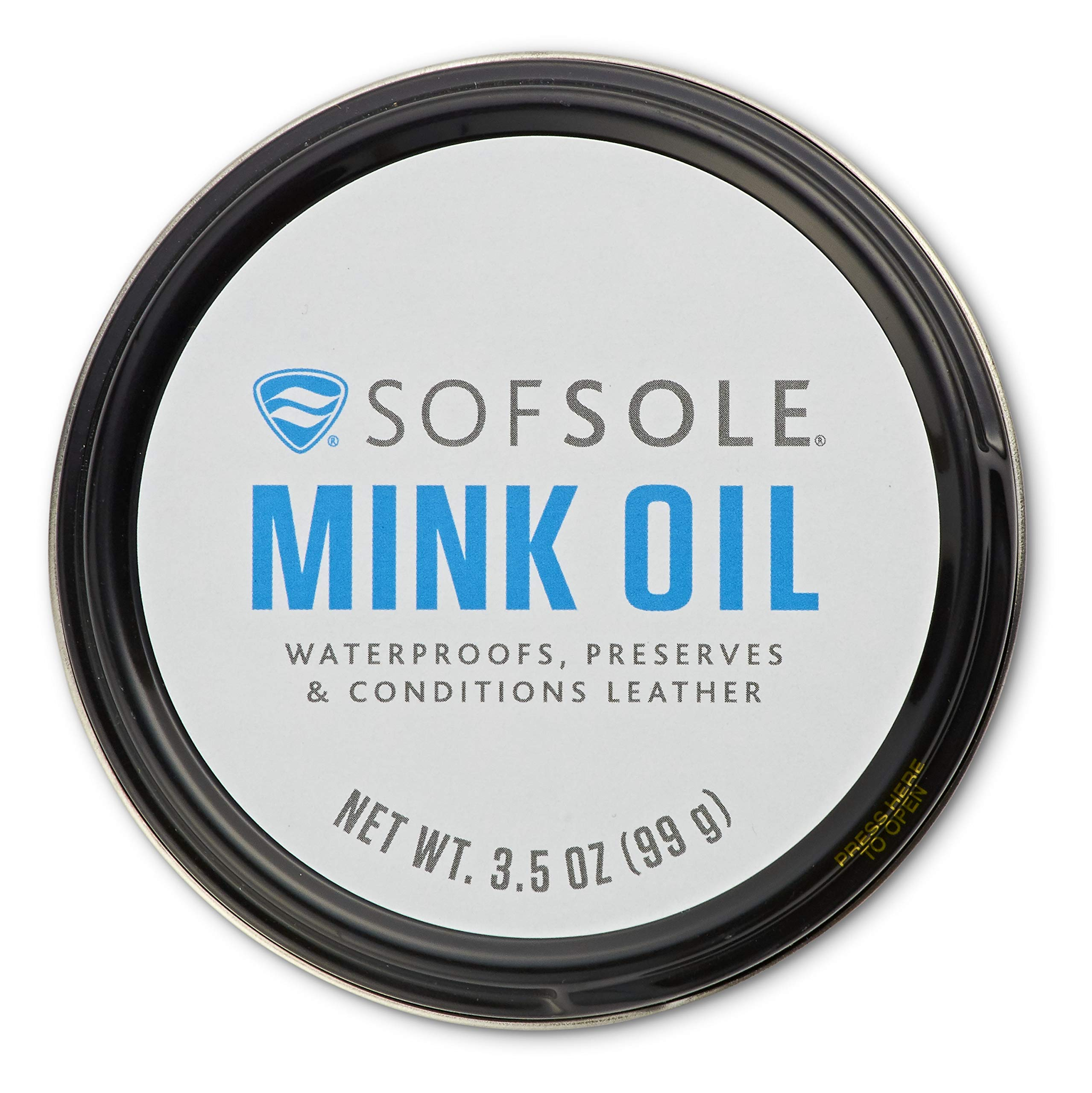 Sof Sole Mink Oil for Conditioning and Waterproofing Leather