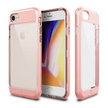 iPhone 8 Case, Patchworks [Contour Series] Hybrid Smudge-Free Clear Inner TPU Hard Matte Finish PC Frame Cover Military Grade Drop Tested Case [Wireless Charging] for iPhone 8 iPhone 7 - Pink