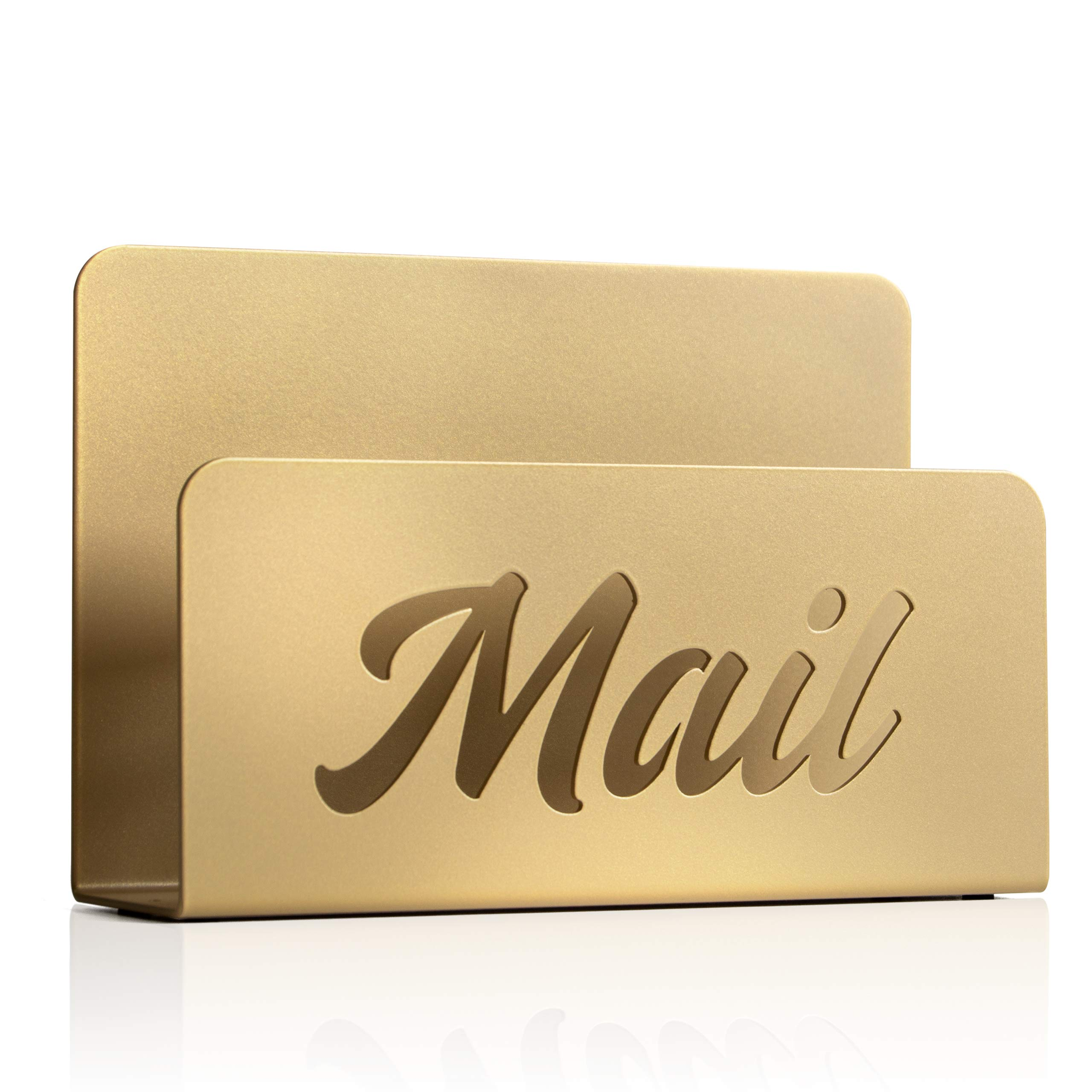 Metal Mail Holder and Desk Organiser (Anodic Gold)