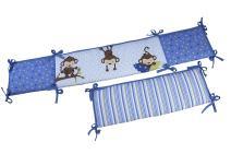 Little Bedding by NoJo 3 Little Monkey Traditional Bumper - Boy