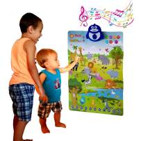 Just Smarty Interactive Happy Zoo Poster, Preschool Animal Learning Toy for 3, 4, 5, 6 Year Old Boys and Girls. Toddler Educational Activities with Music, Playing, Singing for Daycare, Kindergarten