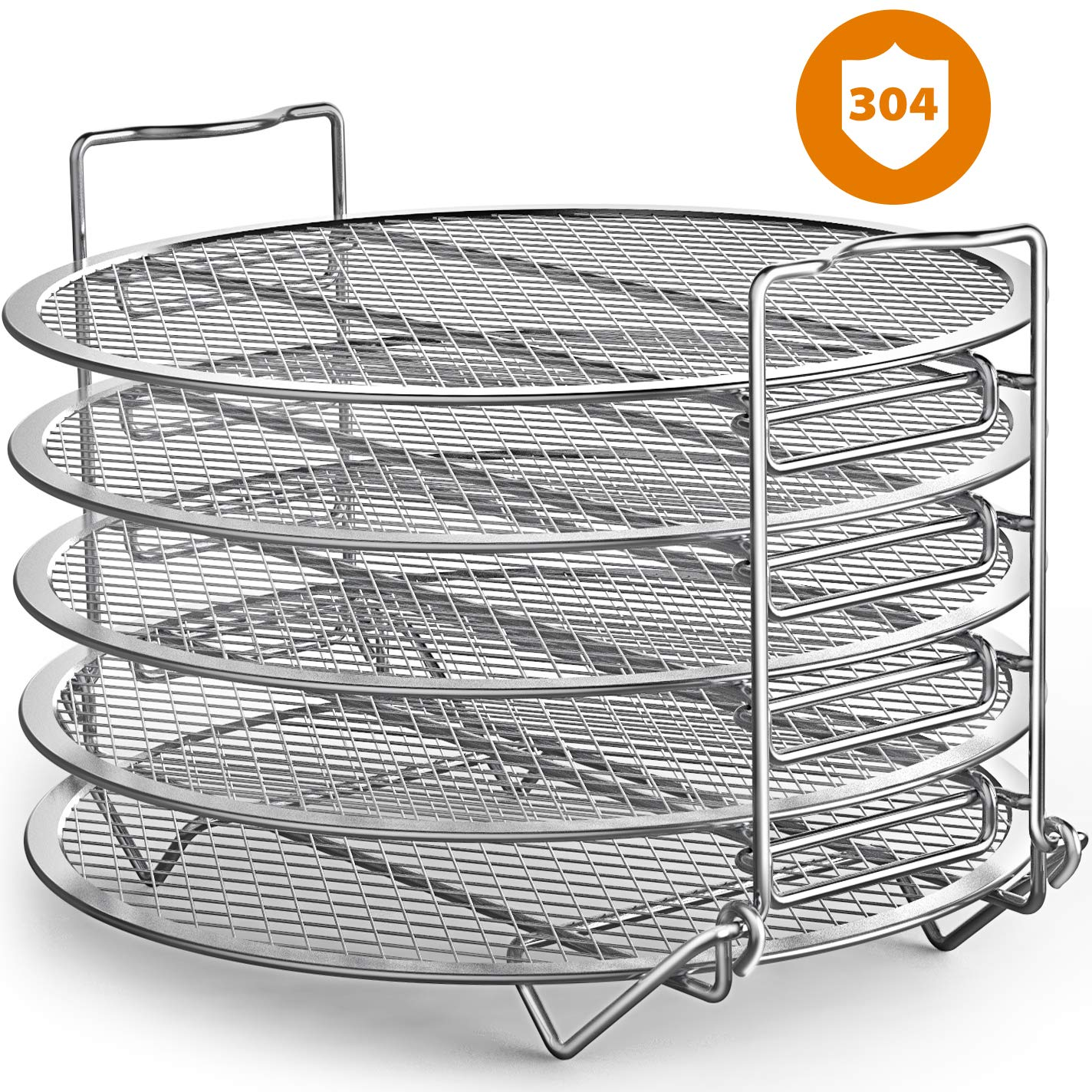 Goldlion Dehydrator Rack Stainless Steel Stand Accessories Compatible with Ninja Foodi Pressure Cooker and Air Fryer 6.5 and 8 Quart, Instant Pot Duo Crisp 8 Qt