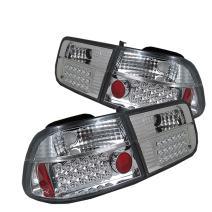 Spyder Honda Civic 96-00 2Dr LED Tail Lights - Chrome