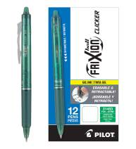 PILOT FriXion Clicker Erasable, Refillable & Retractable Gel Ink Pens, Fine Point, Green Ink, 12 Count (31453)