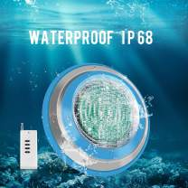Roleadro Led Pool Light, Waterproof IP68 47W RGB Swimming Pool Lights Multi Color, 12V AC/DC Led Inground Pool Light Control with Remote Controller - 6ft Cord