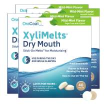 OraCoat XyliMelts Oral Adhering Discs, Mild Mint 40 Count, 4 Count (160 total)