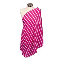 Itzy Ritzy Breastfeeding Cover and Infinity Nursing Scarf – Nursing Cover Can Be Worn as a Scarf and Provides Full Coverage While Nursing Baby, Pink Peony Stripe
