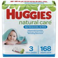 Huggies Refreshing Clean, Baby Wipes, Scented, 56 Count