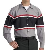 Red Kap Men's Industrial Vertical Button Hole Work Shirt