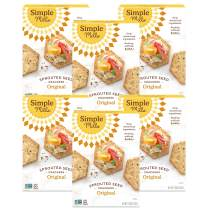 Simple Mills Original Gluten Free Sprouted Seed Crackers with Chia Seeds, Hemp Seeds, Sunflower Seeds, Flax Seeds, and Sunflower Oil, Made with whole foods, 6 Count, (Packaging May Vary)