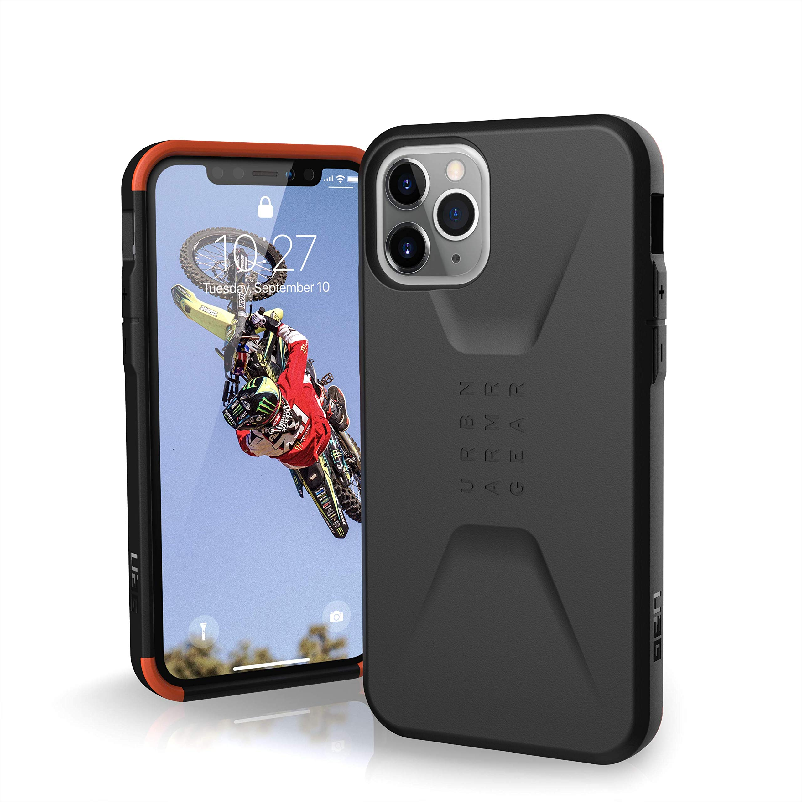 URBAN ARMOR GEAR UAG Designed for iPhone 11 Pro [5.8-inch Screen] Civilian Feather-Light Rugged [Black] Military Drop Tested iPhone Case