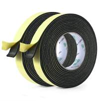 2 Roll Foam Insulation Tape Adhesive-for Seal, Doors, Weatherstrip, Waterproof, Plumbing, HVAC, Windows, Pipes, Cooling, Air Conditioning, Weather Stripping, Craft Tape (1 in X 1/8 in X 16 Ft)