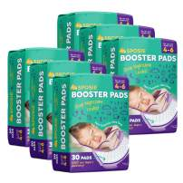 Sposie Overnight Diaper Booster Pads for Nighttime Leak Protection, 180 Inserts-Pads, No Adhesive for Easy Repositioning, Disposable, Fits Diaper Sizes 4-6, for Infants and Toddlers