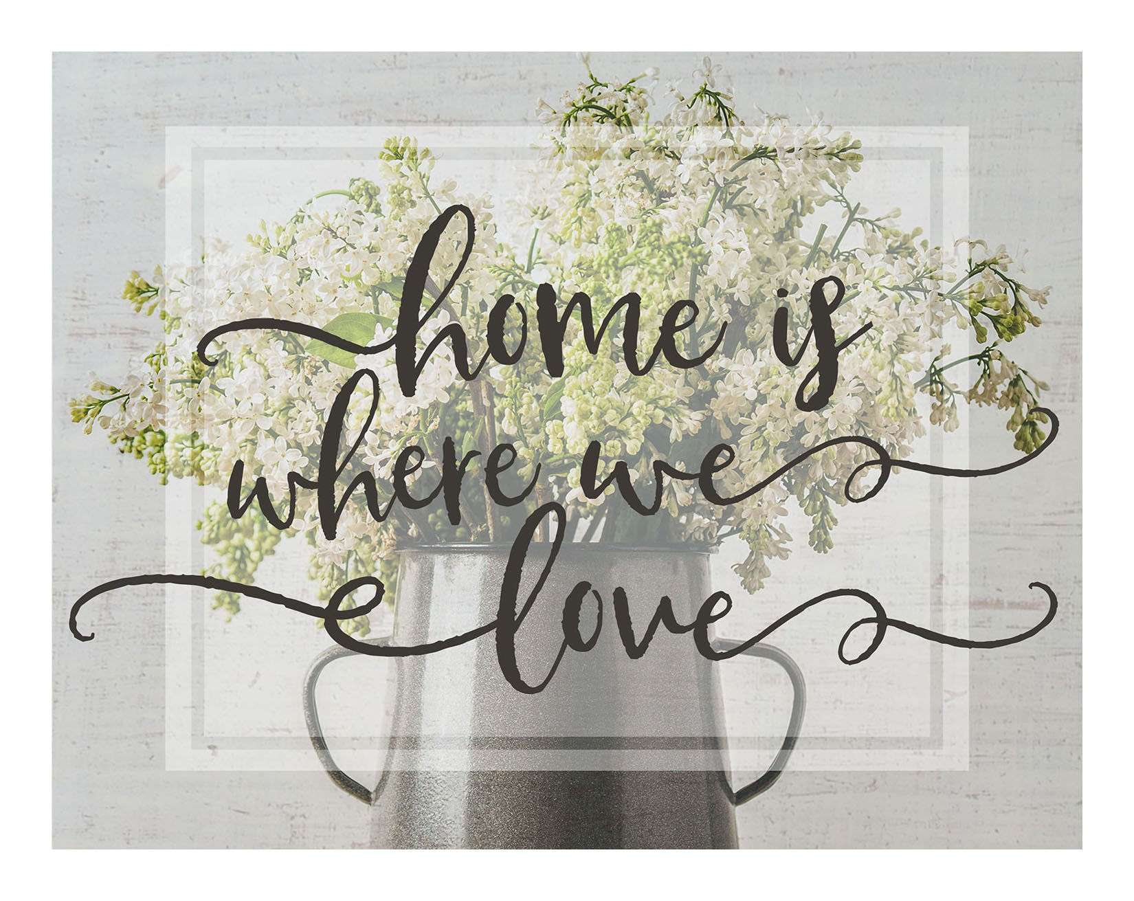 "Kindred Hearts Lightbox-Insert, Home is Where We Love, 9 3/4"" x 7 1/2"", Multi"