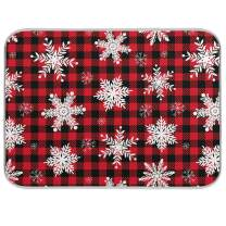 Snowflake Christmas Dish Drying Mats for Kitchen Counter Absorbent Reversible Dishes Drainer Pad 18 x 24 In 2030170