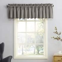 "Sun Zero 50972  Barrow Energy Efficient Rod Pocket Curtain Valance, 54"" x 18"", Gray"