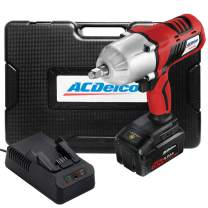 """ACDelco Cordless Li-ion 20V 1,260 FT-LBS NUT BUSTING Torque 1/2"""" Impact Wrench Kit - 4.0Ah Battery, Fast Charger, and Carrying Case, P20 Series ARI20170"""