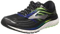 Brooks Mens Glycerin 15 Running Shoeblack/Electric Brooks Blue/Green Gecko 8 D(M) US