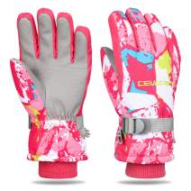 Cevapro Ski Gloves, Waterproof Thermal Gloves Winter Warm Gloves for Skiing Skating Snowboarding Shoveling Under -30℉